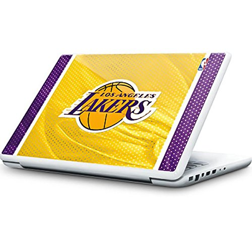 Skinit NBA Los Angeles Lakers MacBook 13-inch Skin - Los Angeles Lakers Home Jersey Design - Ultra Thin, Lightweight Vinyl Decal Protection by Skinit