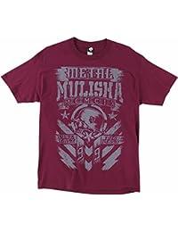 Unisex-Adult T-Shirt (Tee Mm Chalk)(Burgundy, Large)