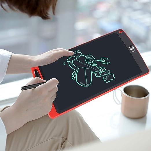 描画ボード、新しいアップグレードされた第4世代LCDスクリーンがスムーズに動作するグリーンライティングカラーLCDライティングボード、ABS 10.0インチ(red)