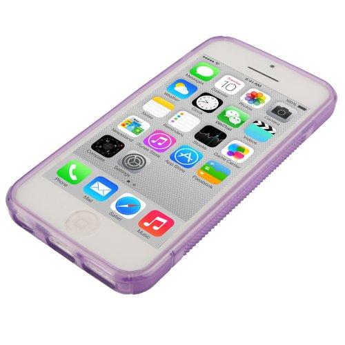 "iPhone 5C Hülle / Case / Cover in lila aus hochwertigem TPU (Silikon) im ""S-Line-Style"" -ORIGINAL nur von THESMARTGUARD-"