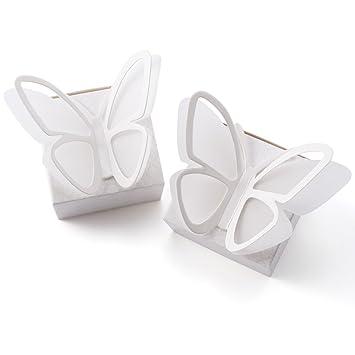 25/50pcs Cajas Cajitas Blancas Mariposa de Cartulina para Dulces Bombones Caramelos Chocolates Regalos para