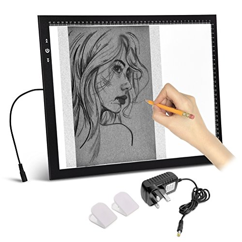 A3 Light Box Light pad With Free carry / Storage Bag. Touch Dimmer 11W...