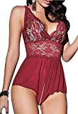 Sexymee Babydoll Lingerie For Women Chemises Lace