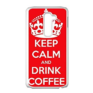 Keep Calm Drink Coffee LG G2 Cell Phone Case White Omnlb