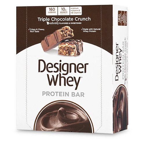Designer Whey Protein Bars Triple chocolat Crunch - 12 Bars