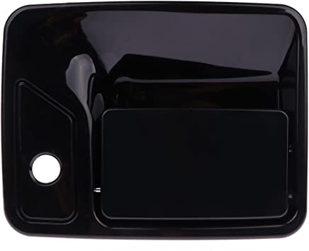 cciyu Door Handle Exterior Front Left Side Door Handle Replacement fit for 1999-2015 ford F250 F350 Super Duty 2000-2005 ford Excursion 6C3Z3622404AVPTM Black