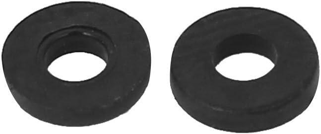 sourcingmap Arandela plana M2 x 5 mm x 1 mm Nylon espaciadores juntas sujetador negro 100 piezas