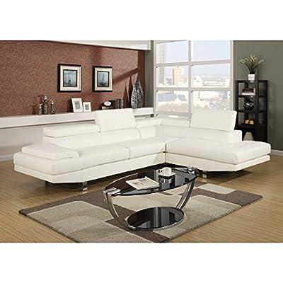 Baxton Studio Selma Leather Modern Sectional Sofa