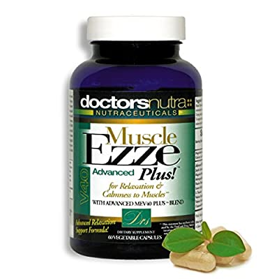 Natural Relaxant Muscle Ezze PLUS Advanced Day Time Night Time 24/7 Capsules Maximum Strength Tablets - Relief for Muscle Spasm, Tension and Stress with Valerian, Passion Flower, Magnesium and more