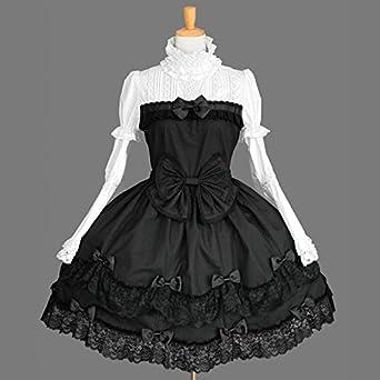 432d21228 ゴスロリィタ Lolita ロリータ 衣装 洋服 COSMAMA LLT82611 ブラックとホワイト 長袖 ゴシック ゴスロリ プリンセス お嬢様  レディース