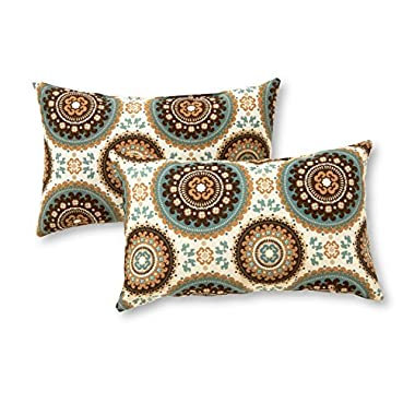 Greendale Home Fashions Rectangle Indoor/Outdoor Accent Pillows, Spray, Set of 2