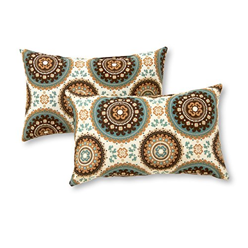 Greendale Home Fashions Rectangle Outdoor Accent Pillow (set of 2), Spray ()