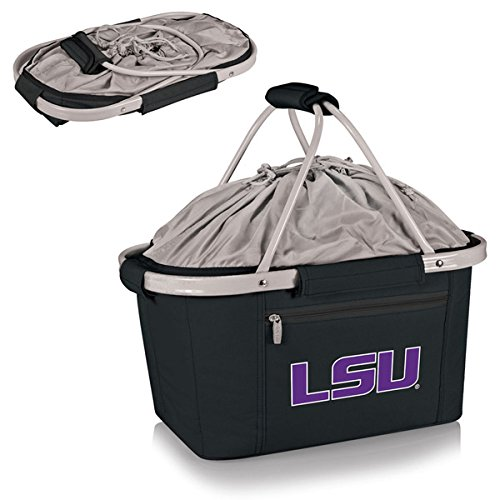 LSU Fighting Tigers Lightweight Insulated Metro Picnic Basket - Beige w/Embroidery
