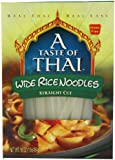 A Taste of Thai Wide Rice Noodles, 16-Ounce Boxes (Pack of 6)