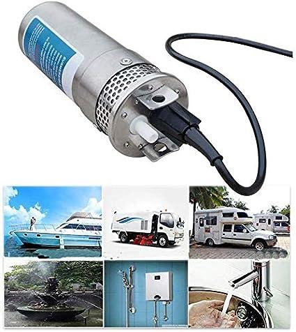 S SMAUTOP 24V DC Bomba de Agua Solar Sumergible para Pozos Profundos Carcasa de Acero Inoxidable 3.2GPM 4