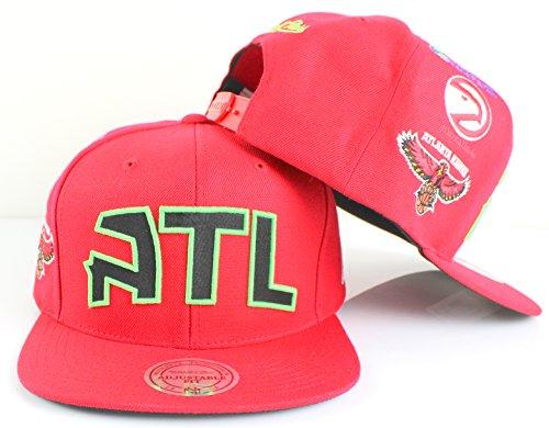 Mitchell & Ness NBA Team Logo History Flat Brim Snapback Cap (Adjustable, Atlanta Hawks, Purple) – DiZiSports Store