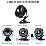 Foerteng USB Mini Fan, Rechargeable Portable Small Macarons Clamped Desktop Air Fan
