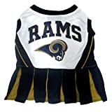 Los Angeles Rams NFL Cheerleader Dress For Dogs - Size Small