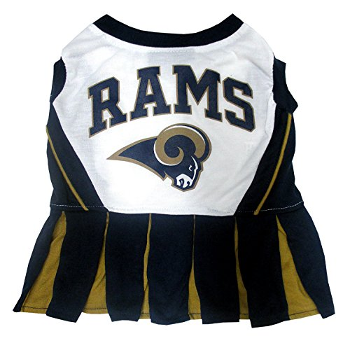 Los Angeles Rams NFL Cheerleader Dress For Dogs - Size Medium]()