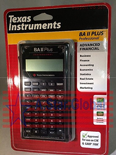 Texas Instruments BAII Plus Professional Calculator Advanced Financial 7309-1 by A Star Global