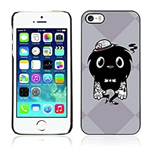 Colorful Printed Hard Protective Back Case Cover Shell Skin for Apple iPhone 5 / 5S ( Cool Tattoo Monster )