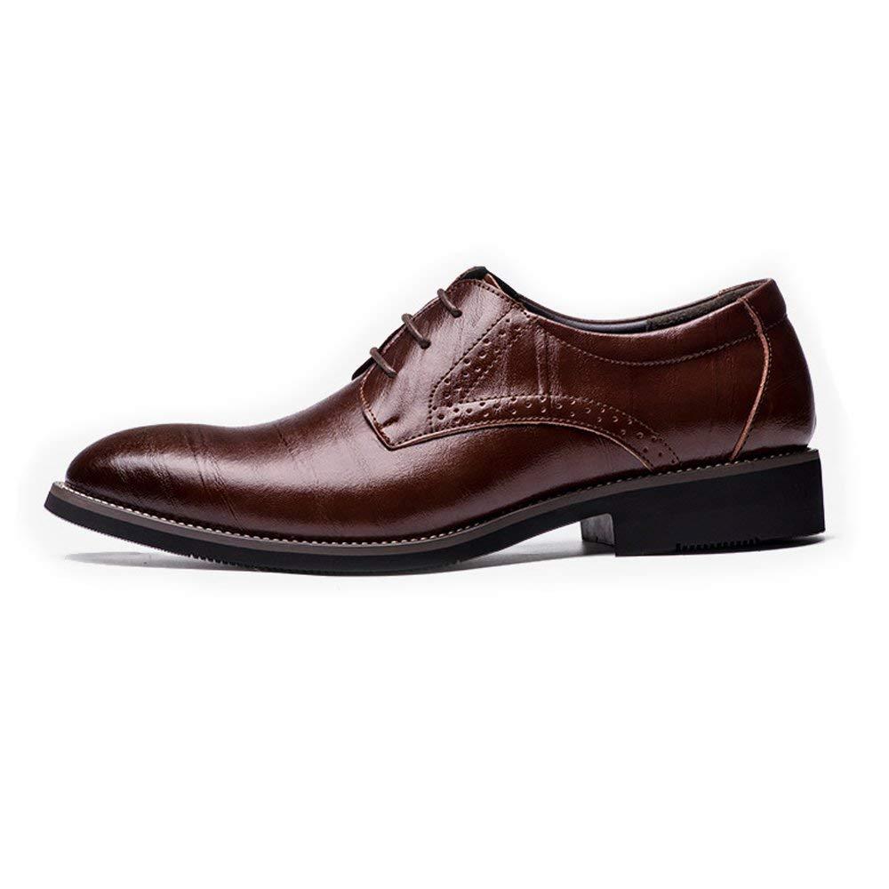 Oudan 2018 2018 2018 Echtes Leder Schuhe der Männer schnüren Sich Oben Breathable Business Low Top Ausgekleidet Oxfords (Farbe   Schwarz, Größe   41 EU) (Farbe   Wine, Größe   41 EU) c42af8