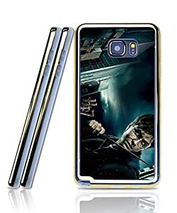 Film Harry Potter And The Deathly Hallows Funda Case For Galaxy Note 5, Extra Slim Silicone Gel Golden-Bordered + 2 in 1 Premium Clear Design Back Funda Case For Samsung Galaxy Note 5