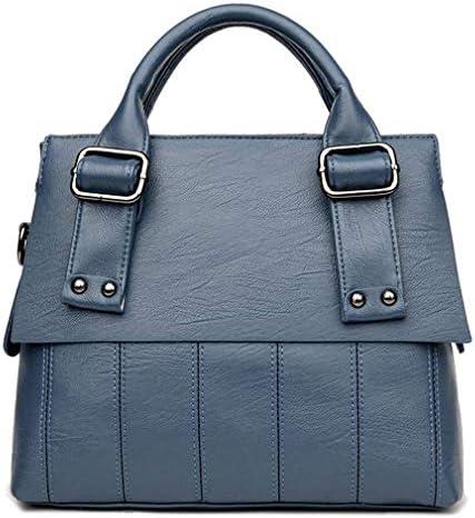 婦人用ハンドバッグショルダーバッグ、多目的ファッションショルダーメッセンジャーバッグの韓国語版、青、32 * 25 * 12 Cm 美しいファッション