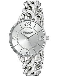 Stuhrling Original Womens 588.01 Vogue Analog Display Quartz Silver Watch