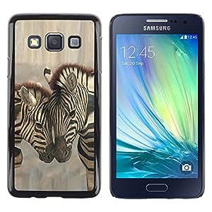 Shell-Star Arte & diseño plástico duro Fundas Cover Cubre Hard Case Cover para Samsung Galaxy A3 / SM-A300 ( Zebra Brothers Love )