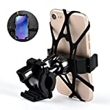 Universal Bike Phone Mount, Bicycle & Motorcycle Phone Holder, Perfect Compatible with Galaxy S7/S6,and Other All 4-6.0 Smartphones (Black) For Sale