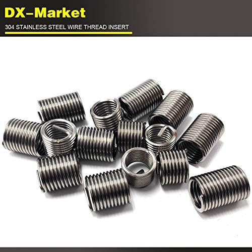 Damaged Thread Repair fine Pitch Thread 30pcs Ochoos m141.5D1.25P 304 high Strength Stainless Steel Screw Thread Inserts