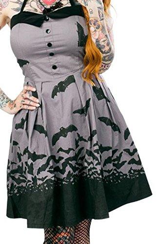 Sourpuss-Womens-Spooksville-Bat-Dress-Gray-S-XL
