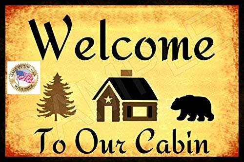 alotaloha Welcome to Our Cabin Sign Made in USA! 8