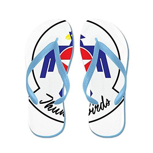Cafepress Oss Flygvapen Thunderbirds - Flip Flops, Roliga Rem Sandaler, Strand Sandaler Caribbean Blue