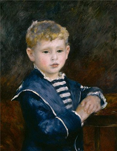 Haviland Mosaic (Oil Painting 'Pierre Auguste Renoir,Portrait Of Paul Haviland,1884', 24 x 31 inch / 61 x 79 cm , on High Definition HD canvas prints is for Gifts And Hallway, Home)