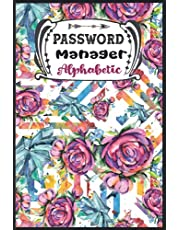 Password Book with Alphabetical Tabs: Username and Password Book for Computer, Network, Mobile & Social Media | Address Book Large Print | Over 400 Entries Sorted Alphabetically with Icons | Home & Office Password Keeper