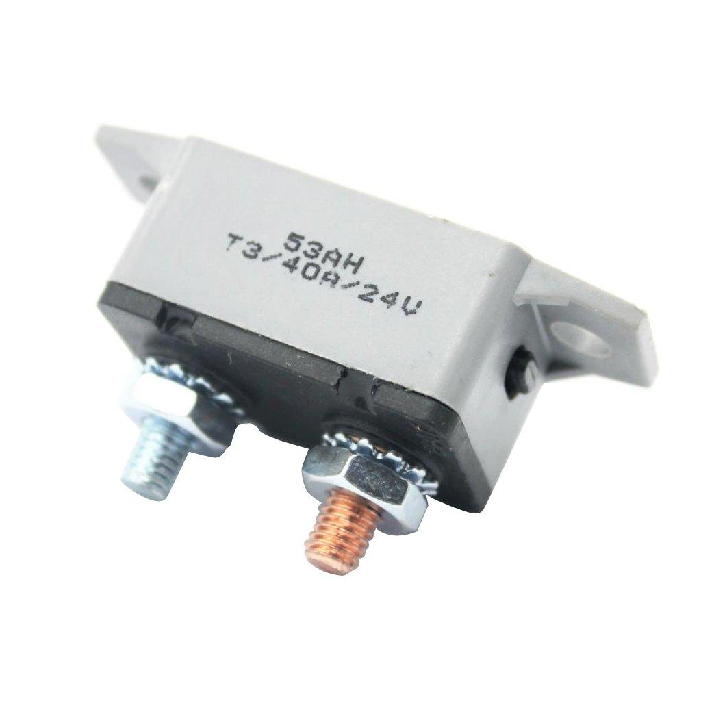 30A Homyl Car Inline Manual Reset Circuit Breaker Fuse Power Protection DC 12V-24V