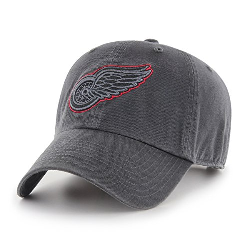 - NHL Detroit Red Wings Male OTS Challenger Adjustable Hat, Dark Charcoal, One Size