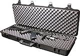 SRC Airsoft Rifle Gun Foam Padded Plastic Carrying Gun Case Black