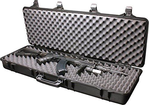 Plastic Foam Cases (SRC Airsoft Rifle Gun Foam Padded Plastic Carrying Gun Case Black)