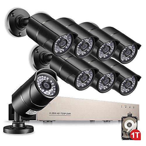 Anlapus 8Cams 720P Security Camera System, 8 CH 720P HD-TVI