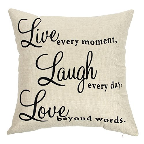 Expert choice for live laugh love pillow covers 18×18