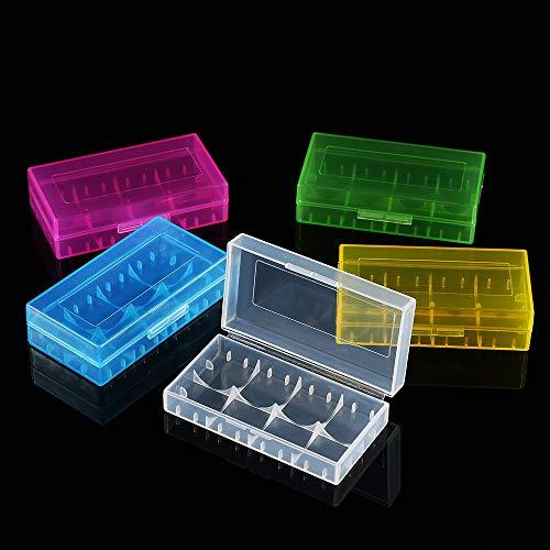 Mugast 10PCS 18350/18650 Battery Case, 5 Colors Plastic Battery Storage Box, Made of PP Raw Materials by Mugast (Image #3)
