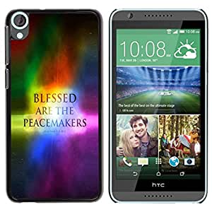 PC/Aluminum Funda Carcasa protectora para HTC Desire 820 BIBLE Blessed Are The Peacemakers - Matthev 5:9 / JUSTGO PHONE PROTECTOR