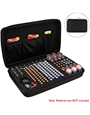 Battery Organiser Storage Box with Battery Tester (BT168), Carrying Case Bag fits for 146 Batteries for AA AAA C D 9V (Batteries are Not Included)