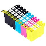 10 Pack Compatible Epson 126 4 Black, 2 Cyan, 2 Magenta, 2 Yellow for use with Epson Stylus NX330, Stylus NX430, WorkForce 435, WorkForce 520, WorkForce 545, WorkForce 60, WorkForce 630, WorkForce 633, WorkForce 635, WorkForce 645, WorkForce 840, WorkForce 845, WorkForce WF-3520, WorkForce WF-3540, WorkForce WF-7010, WorkForce WF-7510, WorkForce WF-7520. Ink Cartridges for inkjet printers. T1261 , T126120 , T1262 , T126220 , T1263 , T126320 , T1264 , T126420 © Zulu Inks
