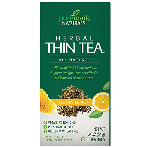 Puremark Herbal Thin Tea, Honey Lemon, 30 Count ()