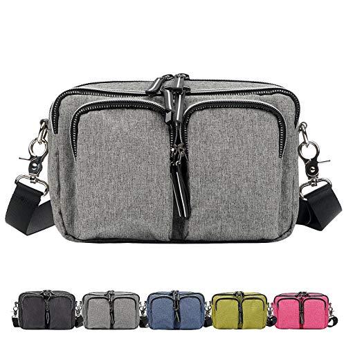 - DivaCat [Updated Version] Fanny Packs for Women Men Extended Waist Strap Duable Multiple Large Size Waist Bag Convertible Shoulder Bag Reflective Zipper Lines Light Gray