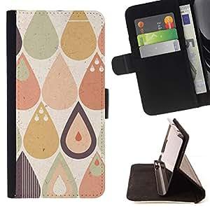 For Apple iPhone SE / iPhone 5 / iPhone 5S Case , Tears Patrón Raindrops Vignette Hipster- la tarjeta de Crédito Slots PU Funda de cuero Monedero caso cubierta de piel